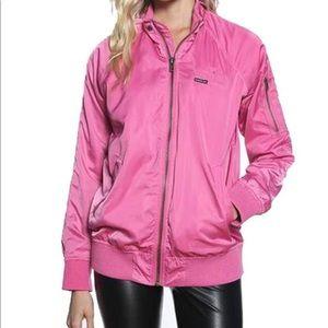 MEMBERS ONLY Satin Bomber Jacket pink medium